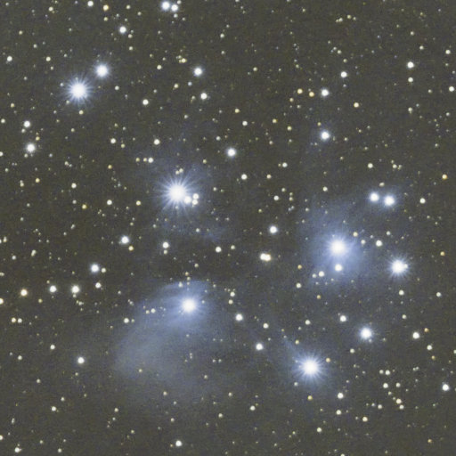 Pleiades and first light for my ASIair